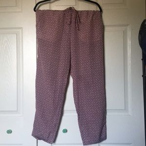 NWT Jcrew jogger pants - silky material with cuff